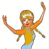3D Illustratie van Toon Girl Stock Fotografie