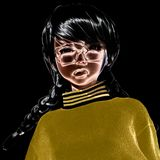 3D Illustratie van Toon Girl Stock Afbeelding