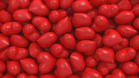 3D illustratie van velen harten volledig kader stock illustratie
