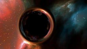 3d Illustratie van zwart gat in diepe ruimte royalty-vrije illustratie