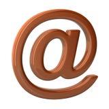 3D illustratiee-mail teken op witte achtergrond vector illustratie