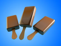 3d Illustraties van het chocoladeroomijs Stock Foto