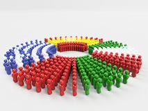 3D Illustratievlag van VARKENS, de voorzijde van Portugal Stock Fotografie