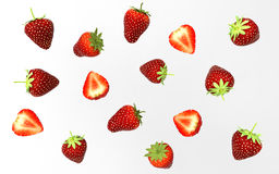 3d Illustratiion Collecion des stawberries, d'isolement sur le fond blanc savoureux Photo stock