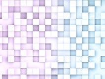 3D illustratio of abstract cubes backgrounds. Rose and blue squares abstract data concept Royalty Free Stock Photo