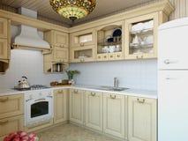 3d Illustration Ñ  ozy Küche im Haus der Karkasse Lizenzfreie Stockbilder