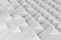 3D illustration abstract architectural pattern. Abstract architectural 3D illustration of white triagles Stock Images
