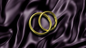 3D illustration Abstract Background with Rings Royalty Free Stock Image