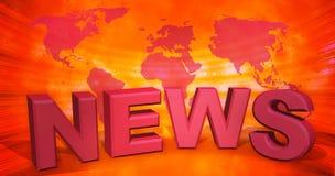 3d illustration, abstract background, world news vector illustration