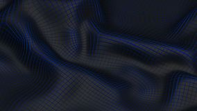 3D Illustration Abstract Black Background with Blue Royalty Free Stock Photography