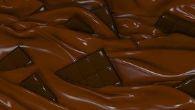 3D Illustration Abstract Chocolate Background. With Glare Stock Photography