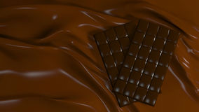 3D Illustration Abstract Chocolate Background. With Glare Royalty Free Stock Photo
