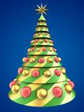 3d abstract Christmas tree Royalty Free Stock Images