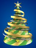 3d abstract Christmas tree Stock Images
