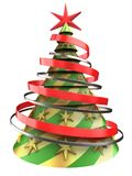 3d abstract Christmas tree Royalty Free Stock Image