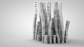 3D illustration of abstract columns. Made of boxes Stock Photos