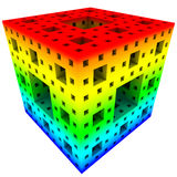 3D illustration of abstract cube construction Stock Images