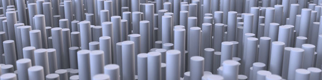 3D Illustration Abstract Cylinder Background 2 Royalty Free Stock Images