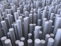 3D Illustration Abstract Cylinder Background Stock Image