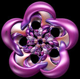 3D illustration of abstract figure. Looks like flower Stock Images