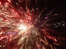 3d illustration. Abstract image of a holiday firework. Close-up Royalty Free Stock Photo