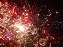 3d illustration. Abstract image of a holiday firework. Close-up Royalty Free Stock Images