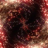 3d illustration. Abstract image of a holiday firework. Close-up Royalty Free Stock Photography