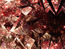 3d illustration. Abstract image of a holiday firework. Close-up Royalty Free Stock Photos