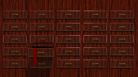 3D illustration Abstract Locker with Tie Stock Photo