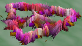 3D illustration of abstract macro render structure made of millions columns Stock Photo