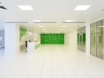 3d illustration of abstract modern hall in office building Stock Images