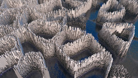 3D illustration of abstract render structure made of millions columns Royalty Free Stock Photos
