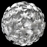 3D illustration of abstract sphere. 3D illustration ofabstract sphere made of stars Royalty Free Stock Photography