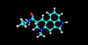 3D illustration of Acetorphine molecular structure isolated on black Stock Image