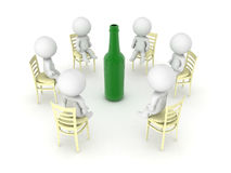 3D illustration of alcoholics anonymus twelve step program meeti. Ng. Isolated on white Royalty Free Stock Image