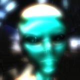 3D Illustration of an Alien Head. Digital 3D Illustration of an Alien Head Royalty Free Stock Photos