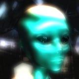 3D Illustration of an Alien Head. Digital 3D Illustration of an Alien Head Royalty Free Stock Photo