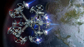 3D Illustration of alien spaceship Royalty Free Stock Image