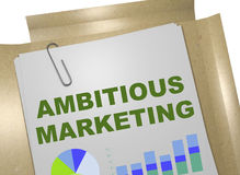 Ambitious Marketing concept Royalty Free Stock Images