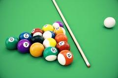 3D illustration American pool snooker balls background. American Billiard. Close up Billiard balls. Bar game. Billiard Stock Photos