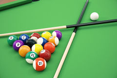 3D illustration American pool snooker balls background. American Billiard. Close up Billiard balls. Bar game. Billiard. 3D illustration American pool snooker Stock Images