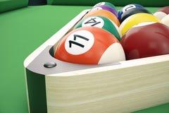 3D illustration American pool snooker balls background. American Billiard. Close up Billiard balls. Bar game. Billiard royalty free illustration