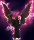 Angel of death on abstract fantasy background 3d illustration. 3D illustration angel of death on abstract fantasy background royalty free illustration