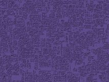 3D Illustration of a web textured map. 3D Illustration of an architectural geometry in ultra violet, the color of the year in 2018, for technological textures Royalty Free Stock Image