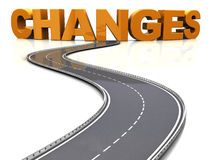 Road to changes Stock Images