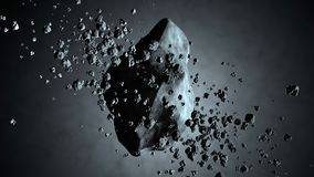 3D Illustration of a Asteroid floating in space Royalty Free Stock Image