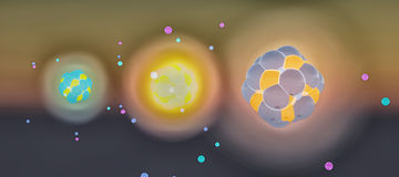 3D illustration of an atom Stock Photo