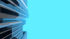 3D illustration av moderna skyskrapor - vertikal sammansättning Royaltyfria Foton