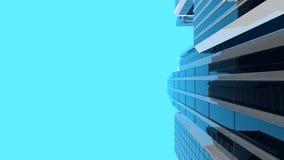 3D illustration av moderna skyskrapor - vertikal sammansättning Arkivbild