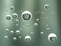 3D illustration, background from air bubbles in water. 3D illustration,  air bubbles in water Stock Image